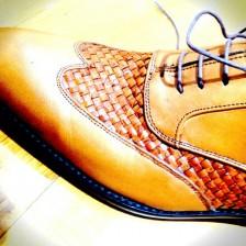メッシュのコンビ靴