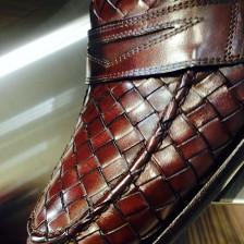 ボッテガヴェネタっぽい革靴