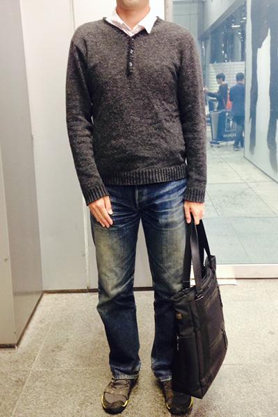 坂田さん[38歳]さんのコーディネート前