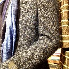 スライバーニット織りのコート