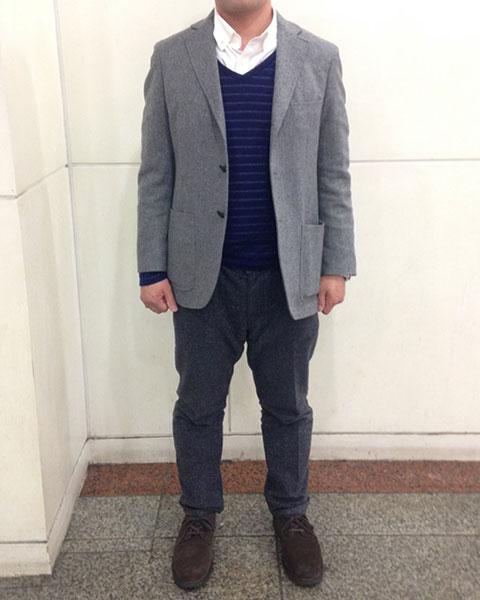 秋川さん[39歳]さんのコーディネート前