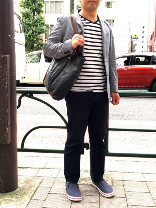 田川さん[45歳]さんのコーディネート前