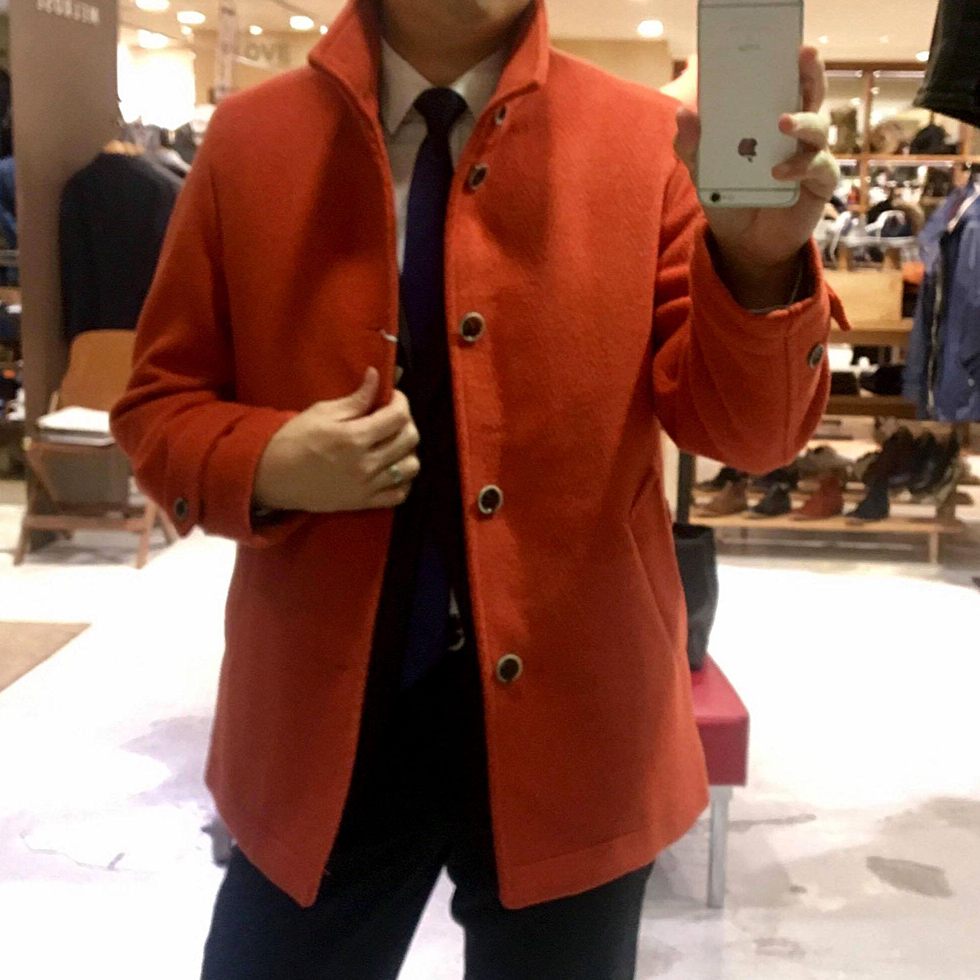 オレンジのコート