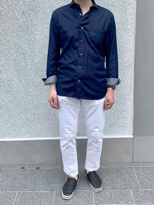 浜田さん [42歳]さんのコーディネート前