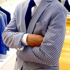 チェック柄ジャケットの着こなし・ファッションスナップ(男性編)